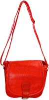 Mpkart Girls, Women Casual Red Leatherette Sling Bag