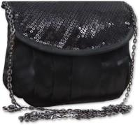 Hi Look Women Casual Black Polyester Sling Bag