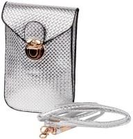 Trendberry Women Silver PU Sling Bag
