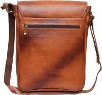 C Comfort Men, Women Casual Tan Genuine Leather Sling Bag
