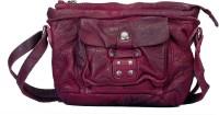 Vilenca Holland Women Casual Maroon Genuine Leather Sling Bag
