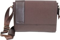 La Roma Men Brown Genuine Leather Messenger Bag