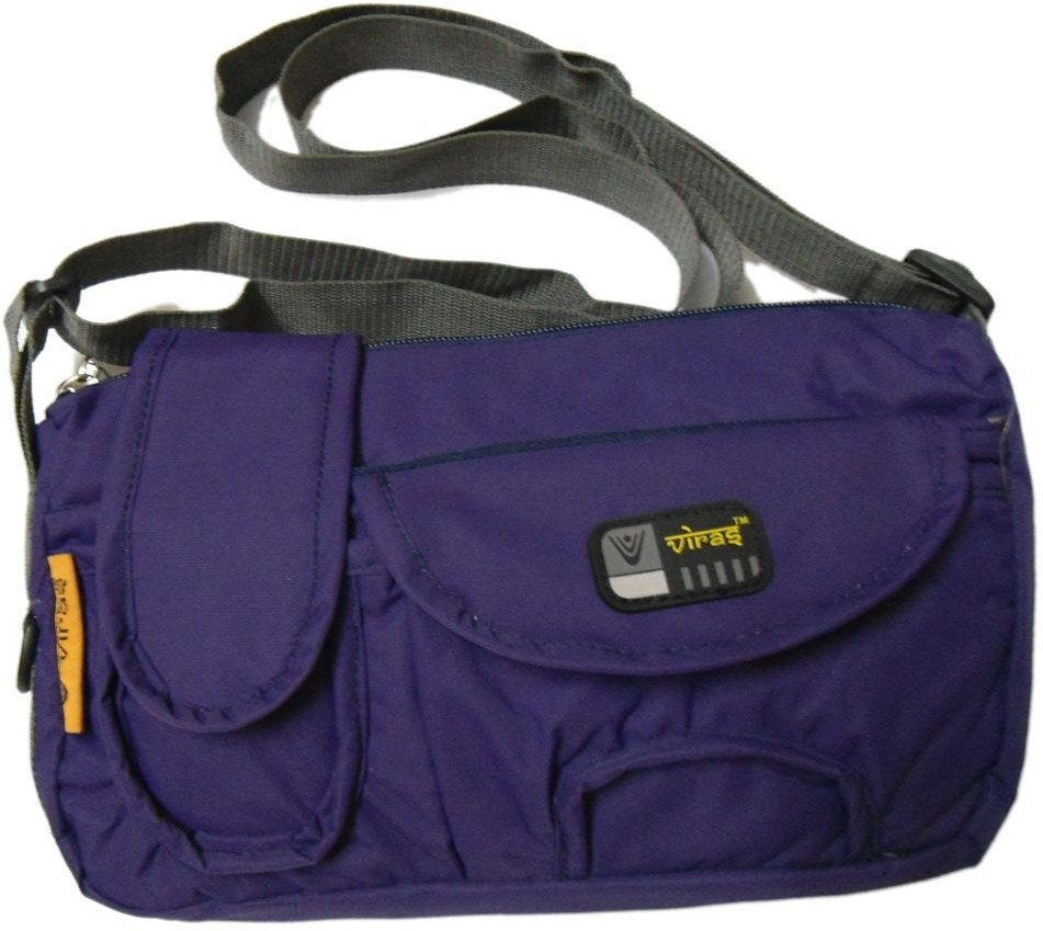 Gym Bag Flipkart: Viras Men, Women Casual Purple Cotton Sling Bag Dark