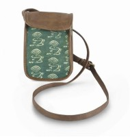 Happily Unmarried Men, Women Casual Green Cotton Sling Bag