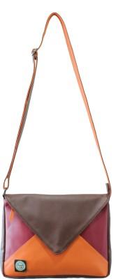 Anekaant Envelope Small Sling Bag - Brown