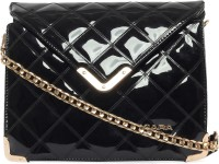 Kiara Women, Girls Casual Black Leatherette Sling Bag