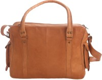 Just Differ Men Tan Genuine Leather Messenger Bag