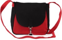 Vogue Tree Blkrd Medium Sling Bag (Black, Red)