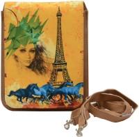 Krazykart Women Yellow PU Sling Bag