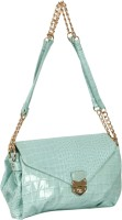 Bagkok Girls Casual Green Leatherette Sling Bag