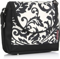 Home Heart Women Casual Black, White Canvas Sling Bag