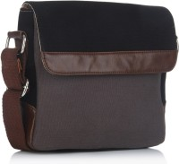 Louise & Harris Men, Women Casual Black Leatherette Sling Bag