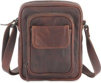 Goodwill Leather Art Boys, Men Casual, Sports Brown Genuine Leather Messenger Bag