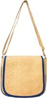 Heels & Handles Women Beige, Blue Leatherette, PU Sling Bag