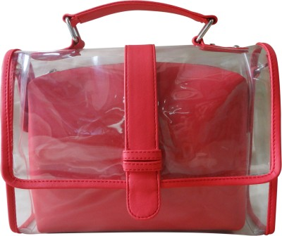 Toteteca Bag Works Transparent Sling Small Sling Bag - Red