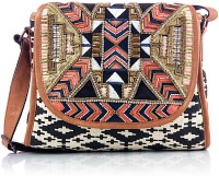 Shaun Design Aztec Embroidered Cross Body Small Sling Bag - SLBDX5HKVGXUPEQV
