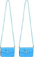 Heels & Handles Women Formal, Casual Blue Leatherette Sling Bag