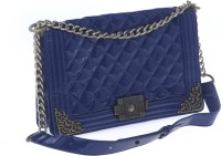 Satchel Bags & Accessories Women Casual Blue PU Sling Bag
