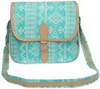 Life By Shoppers Stop Women Casual Green Canvas Sling Bag