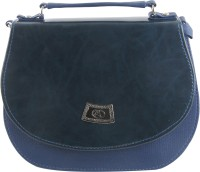 Felicita Girls, Women Casual, Evening/Party Blue PU Sling Bag