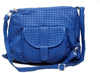 Borse Women Casual Blue PU Sling Bag