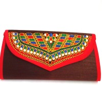 Indian Swan Women, Girls Brown Cotton Sling Bag