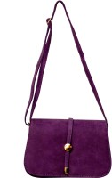 Parv Collections Women Casual Purple Leatherette Sling Bag