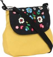 Pick Pocket Women Yellow Canvas Sling Bag