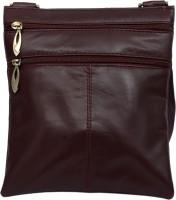 Rambler Girls, Women Casual Maroon Genuine Leather Sling Bag