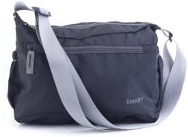 Bendly Smart Foldable Cross Body Medium Sling Bag - Black-01