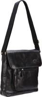 Valentino Men Casual Black Genuine Leather Sling Bag