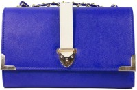 Heels & Handles Women Casual, Formal Blue PU Sling Bag