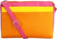 Toteteca Bag Works Women Orange Leatherette Sling Bag