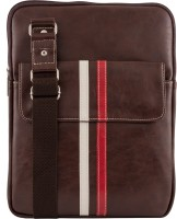 Unixx Men Casual Brown, White, Red Genuine Leather Sling Bag