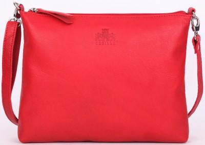 Cecille Women Red Genuine Leather Sling Bag for Rs. 1,499 at Flipkart
