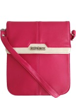 Toteteca Bag Works Women Casual Pink Genuine Leather Sling Bag