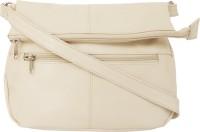 Feliza Girls Casual White Leatherette Sling Bag