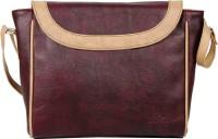 Lapis O Lupo Women Maroon PU Sling Bag