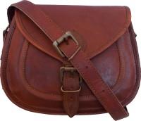 Shiny Collection Girls, Women Tan Genuine Leather Sling Bag - SLBEG6MWMHVTDJK9
