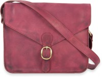Calligraphy Cross Body Medium Sling Bag - Red