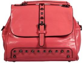 BagsHub Women Pink PU Sling Bag