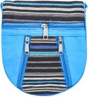 Mpkart Bright Cotton Small Sling Bag (Blue)