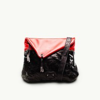 TWACH Wrinkled Tripper Medium Sling Bag - Red Black