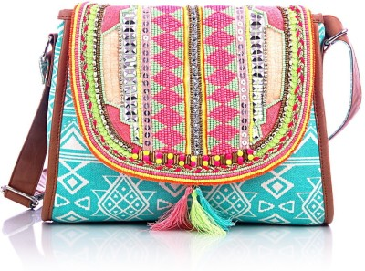 Shaun Design Women, Girls Blue Canvas Sling Bag for Rs. 1,400 at ...