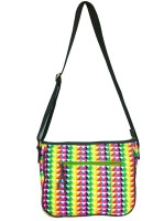 Carry On Bags Neon Abstract Medium Sling Bag - Multi-color