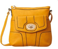 Cappuccino Women Casual Yellow Genuine Leather Sling Bag