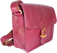 Adimani Women Casual Pink Genuine Leather Sling Bag