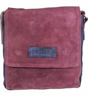 Panashe Boys, Girls Maroon Genuine Leather Sling Bag