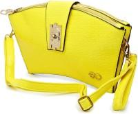 E2O Women Casual Yellow Genuine Leather Sling Bag