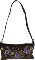 Needlecrest Women Casual Black Silk Sling Bag